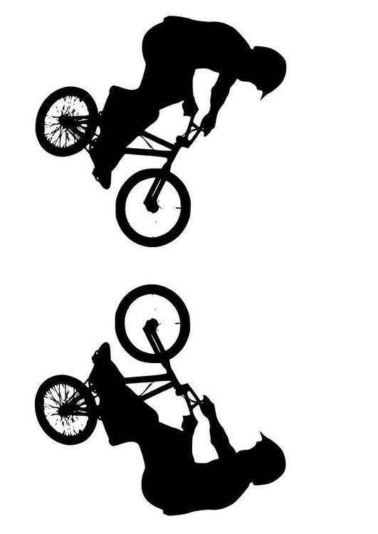 Coloring page BMX img 11494