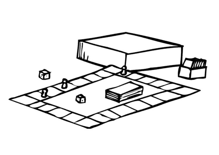 Coloring page board game