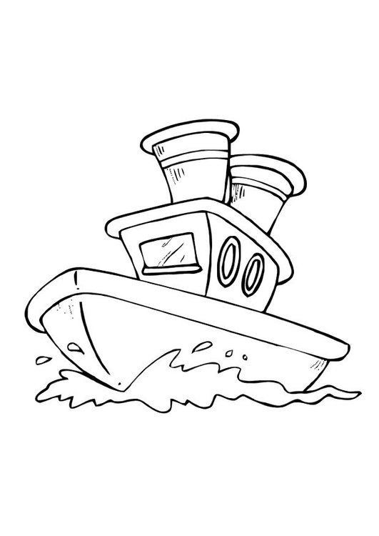 Coloring page boat - img 10586.