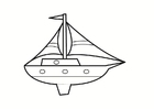 Coloring pages boat
