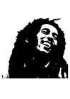 Coloring pages Bob Marley