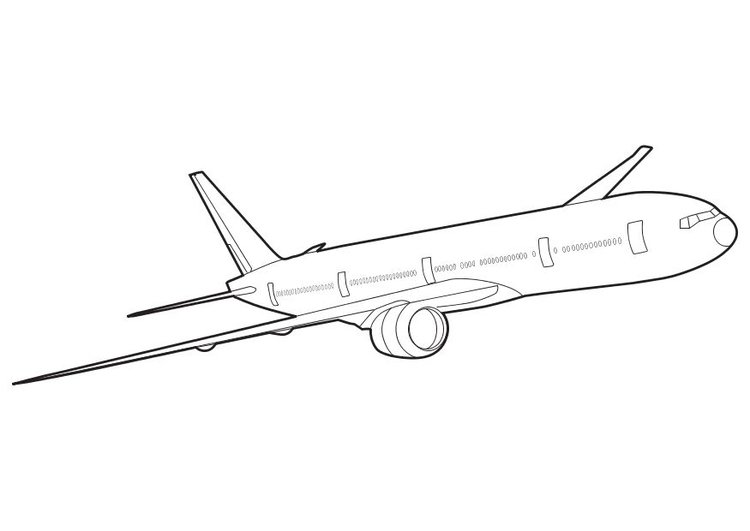 Coloring page Boeing 777