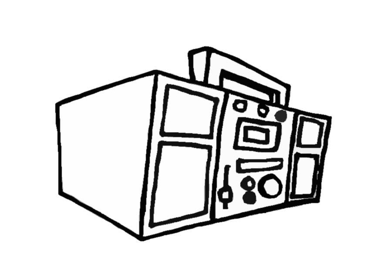 Coloring page boom box