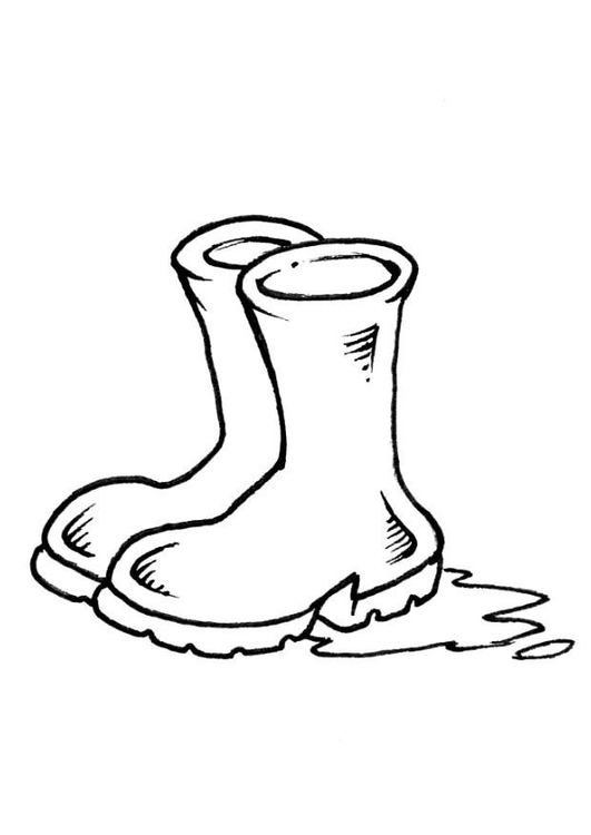 Coloring page boots