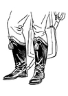 Coloring pages boots