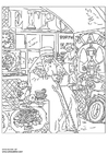 Coloring pages Boris Kustodiev