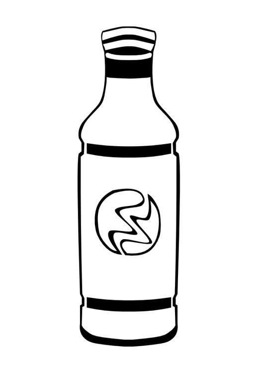 Coloring page bottle