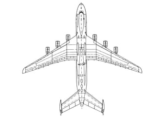 Coloring page bottom of aeroplane