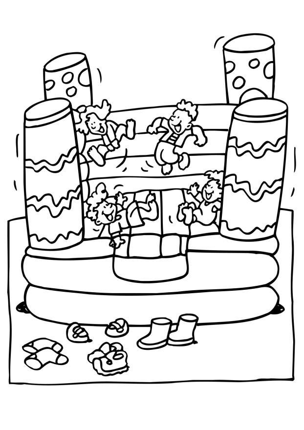 Coloring page bouncy castle img