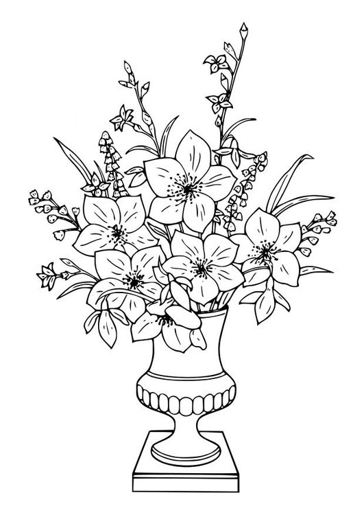 Coloring page Bouquet of Lillies