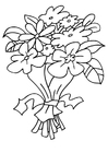 Coloring page bouquet