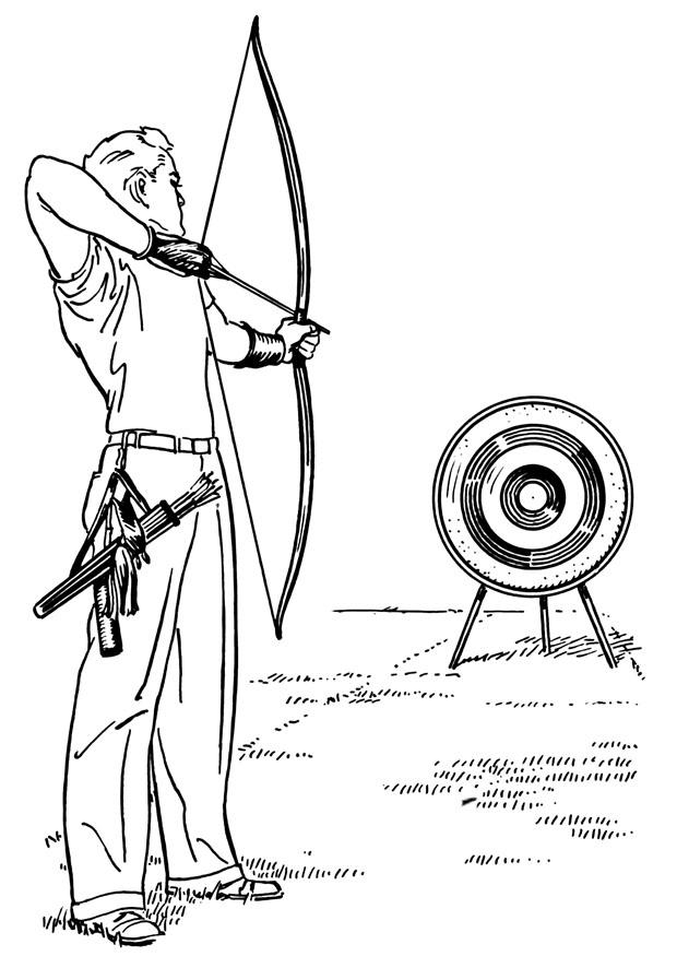 Coloring Page Bow And Arrow
