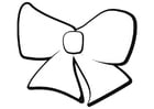 Coloring page bow