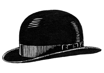 Coloring page bowler hat