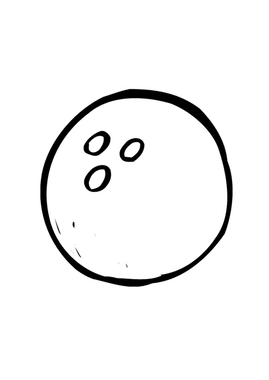 Coloring page bowling ball