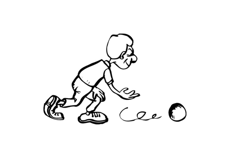 Coloring page bowling