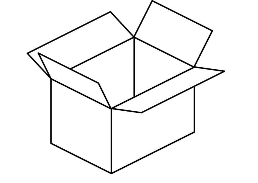 Coloring page box img 18720