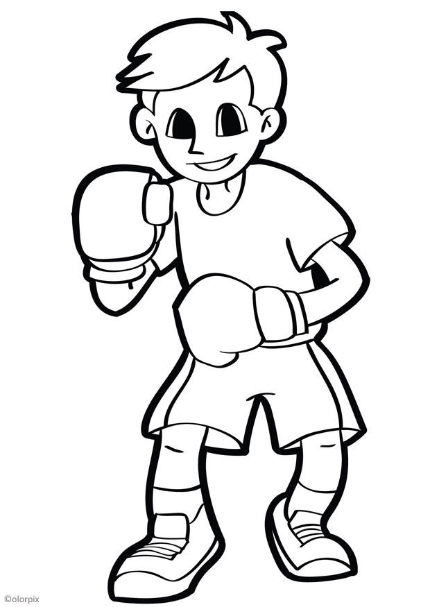 coloring pages of boxing gloves - coloring page boxing img 26043