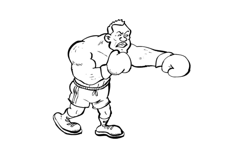 muay thai coloring pages | Coloring page boxing - img 11940. Images