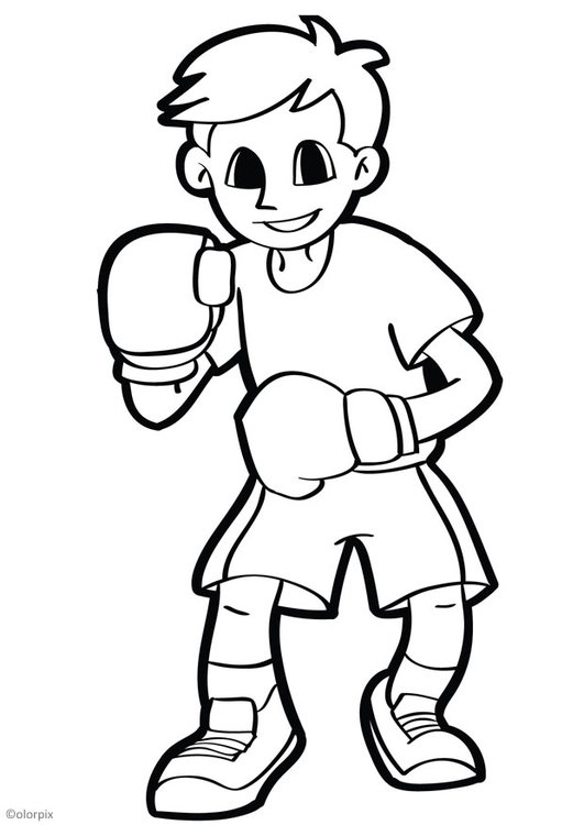 Coloring page boxing