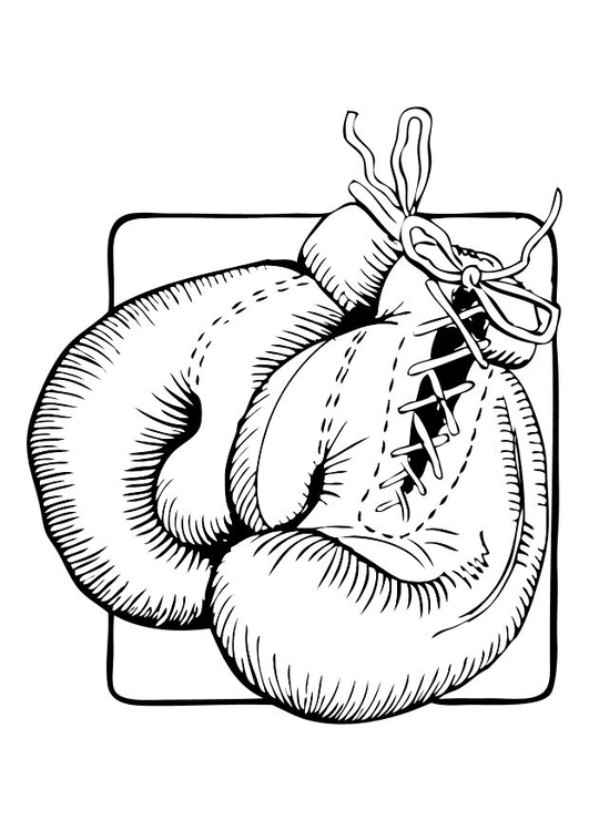 Coloring page boxing gloves