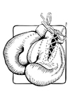 Coloring pages boxing gloves
