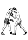 Coloring page boxing - uppercut