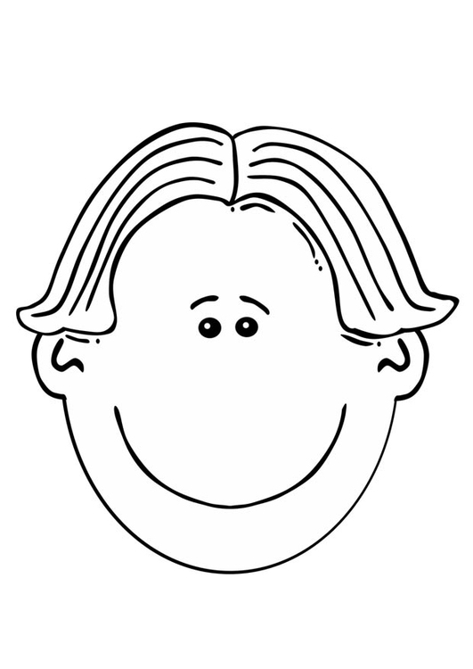 Coloring Page Boys Face