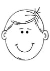 Coloring pages boy's face
