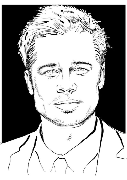 Coloring page Brad Pitt