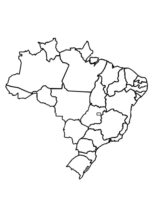 Coloring page Brazil