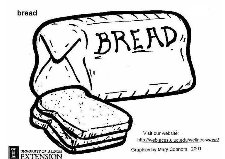 Coloring page bread