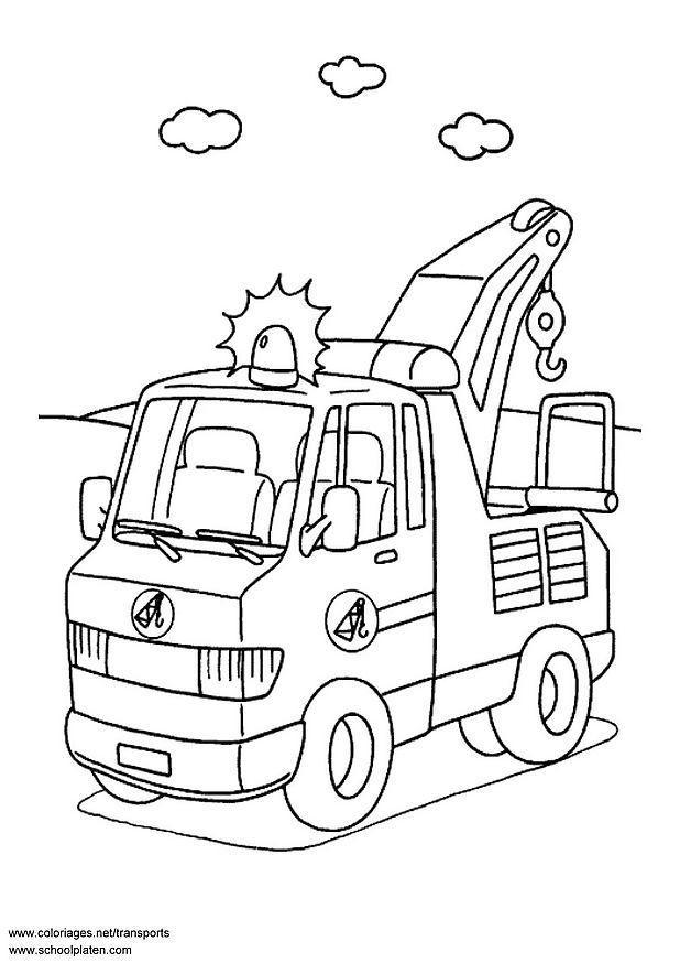 Cars Kleurplaat Pdf Coloring Page Breakdown Lorry Free Printable Coloring Pages