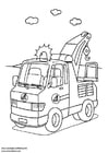 Coloring page breakdown lorry