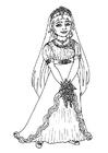 Coloring page bride