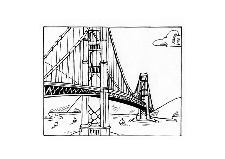 Coloring page bridge