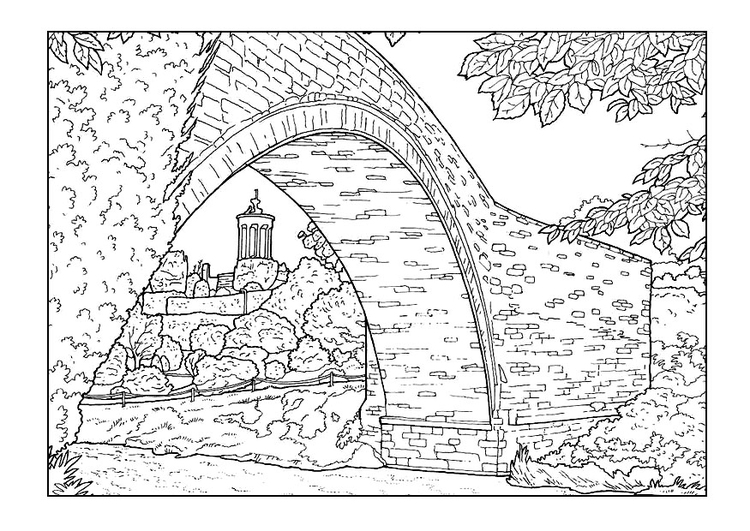 Coloring Page Bridge Img 9891