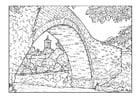 Coloring page bridge