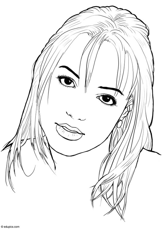 Coloring page Britney