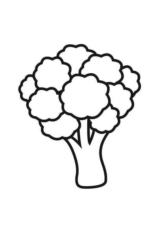 Coloring page broccoli