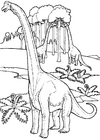 Coloring pages brontosaurs