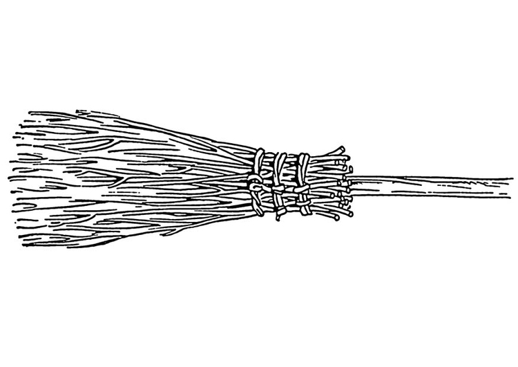Coloring page broom