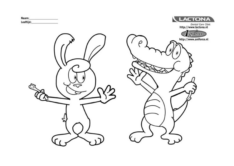 Coloring page brush your teeth