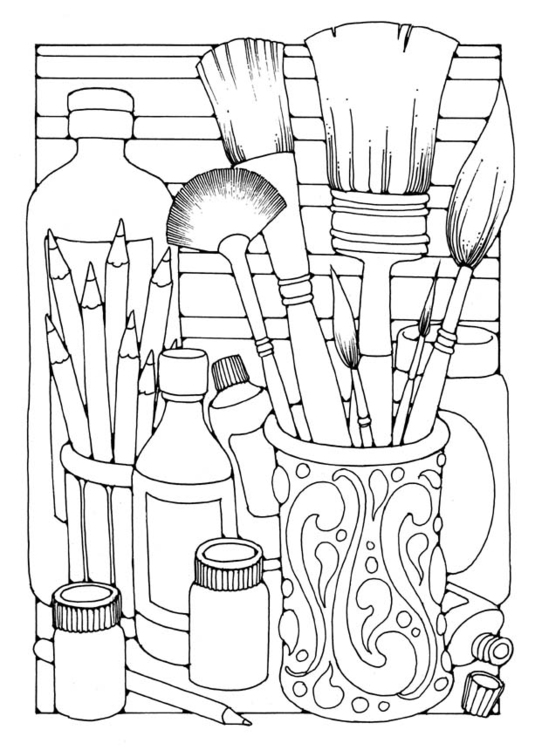 Coloring page brushes