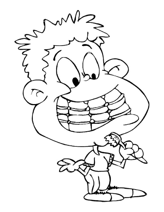 Brushing Teeth coloring pages for kids
