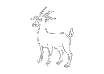 Coloring page buck