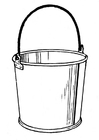Coloring pages bucket