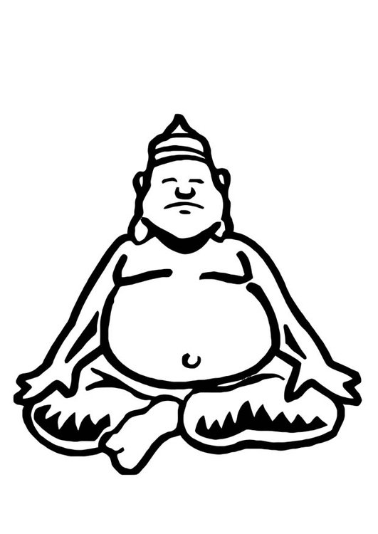 Coloring page Buddha