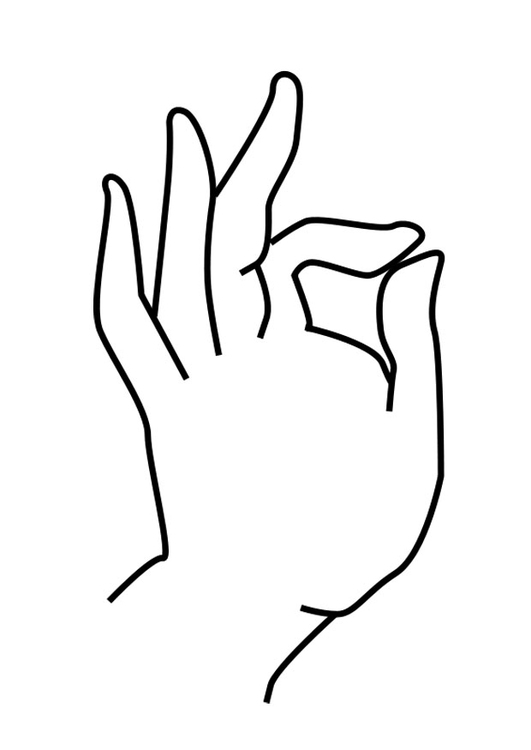Coloring page Buddha hand