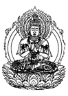 Coloring pages Buddha